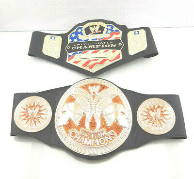$22.49 • Buy WWE United States CHAMPION & TAG TEAM CHAMPIONS PLAY BELTS WWF Wrestling Youth