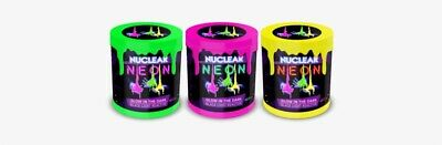 AU25.99 • Buy Nuclear Neon Slime 120 Grams Tub 3 Pcs Glow In The Dark Black Light Reactive Toy