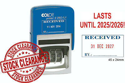 £7.99 • Buy Colop S260/l1 Received Dater Stamp - Changeable Date - Date Until 2025/2026