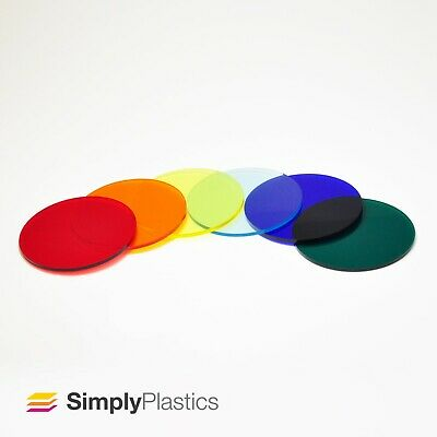 £1.81 • Buy 3mm Perspex® Laser Cut Coloured Tinted Cast Acrylic Plastic Disc Circle