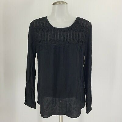$ CDN30.74 • Buy Anthropologie Anthro Meadow Rue Sz Medium Vivie Blouse Top Swiss Dot Black