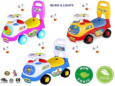 New First Ride On Toy Car Girls Boys Push Along Musical Car Genuine Xmas Gift  • 20.99£