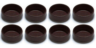 Round Caster Cups, Outer Dimension 54 Mm (2.1/8 Inch) - Small, Brown, Pack Of 8 • 2.49£