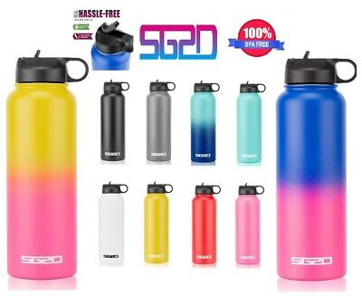 $15.85 • Buy Hydro Stainless Steel 18 32 40 Oz  Water Bottle Flask Insulated Wide Mouth Lid