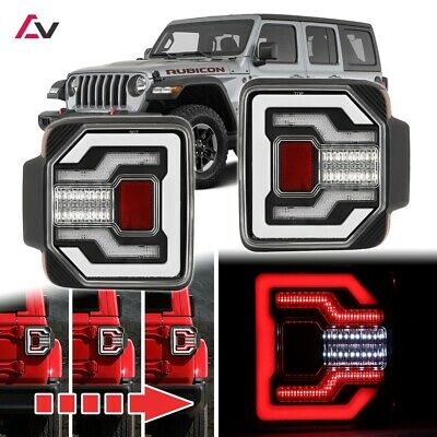 2018+ Jeep Wrangler JL JLU Sport Rubicon DRL LED Sequential Tail Lights Clear • 285.19$