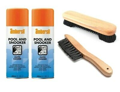 £14.89 • Buy Pool Snooker Billiards Table Cloth Cleaning Kit 400ml Cloth Cleaner With Brushes
