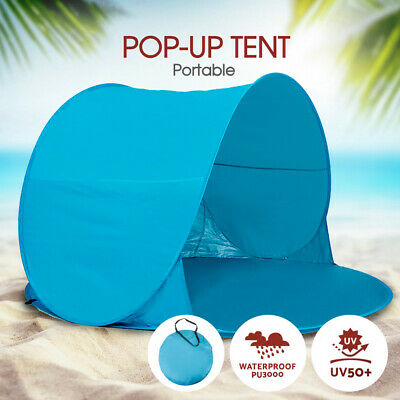 AU22.79 • Buy Beach Pop Up Camping Tent Hiking Sun Shade Portable Shelter Fishing FAST POST