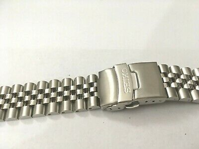 Seiko 20mm Divers Jubilee Stainless Steel Watch Strap / Band Curved End,( Bd-3 ) • 19.99£