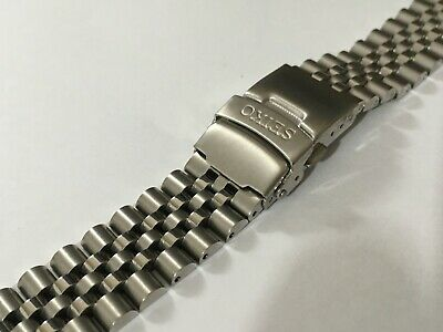 Seiko 20mm Divers Jubilee Stainless Steel Watch Strap/band,straight Lugs,(bd-8) • 25£