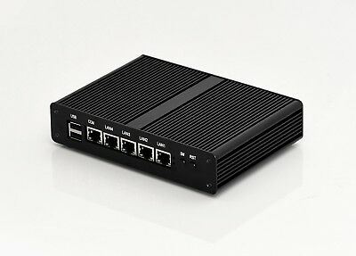 Mini PC Fanless Router Firewall Pfsense Intel Quad Core J1900 2G SSD 4 LAN Ports • 198.32£