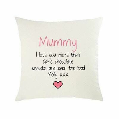 Personalised Cushion Covers Mummy I Love You More Than Mothers Day Gift Present • 7.99£