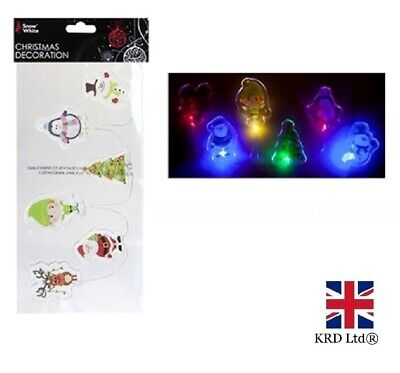 CHRISTMAS LIGHT UP GEL WINDOW STICKERS Decoration Xmas Party Decals PM524054 UK • 4.15£
