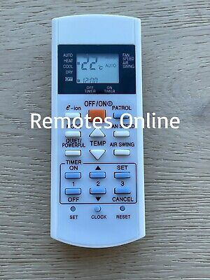 AU15.75 • Buy Panasonic Replacement Air Conditioner Remote Control A75C3012, A75C3762 NEW