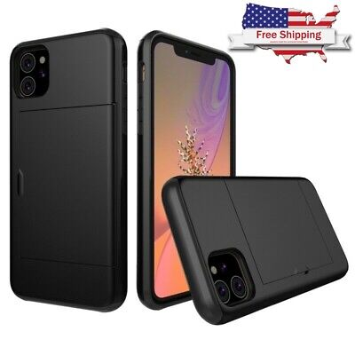 AU15.36 • Buy For IPhone 11 Pro Max/XS Max/X/XR Shockproof Wallet Case With Credit Card Holder