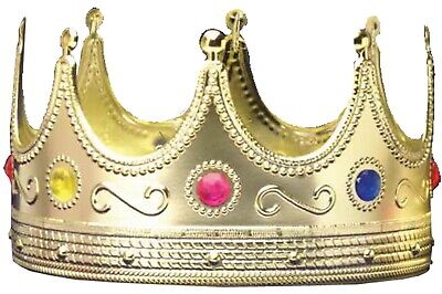 £4.29 • Buy REGAL KING CROWN ADULT Medieval Costume Accessory