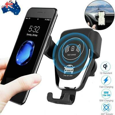 AU13.10 • Buy Qi Wireless Fast Charger Car Holder Gravity Mount For IPhone 11 Pro Max S 9 10 +