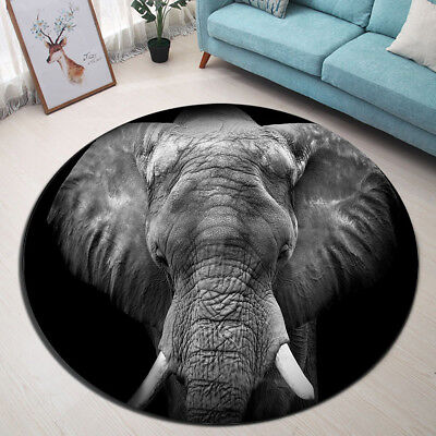 Indoor Area Rug African Elephant Carpet Living Room Nonslip Floor Mat Home Decor • 33.21£