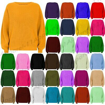 Ladies Womens Casual Cosy Baggy Knitted Pullover Winter Jumper Top Sweater S-3XL • 10.99£