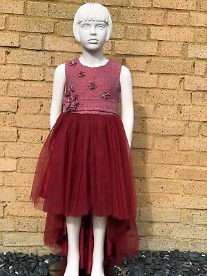 Girls High-low Dress With Bow Detail  • 30£