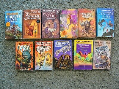 Piers Anthony: 11 Paperback Fantasy Novels Of The Xanth And Kelvin Of Rud Series • 21.99$