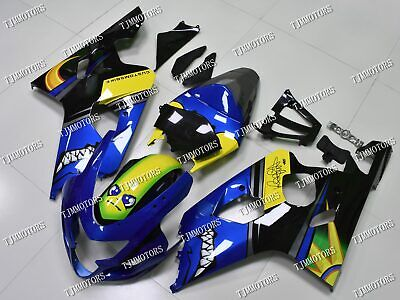 $520 • Buy For GSXR600/750 2004-2005 ABS Injection Mold Bodywork Fairing Kit Blue Shark AGV