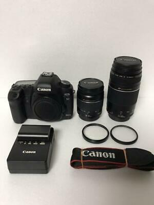 $ CDN1351.90 • Buy CANON EOS 5D Mark II Camera Lens Set EF 28-80 75-300 Mm Excellent++ Used