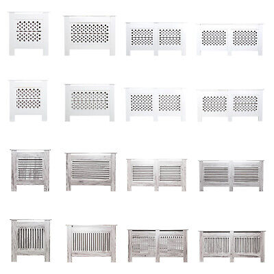 £32.99 • Buy Modern Radiator Cover Wall Cabinet Wood MDF Grill Shelf Traditional Furniture