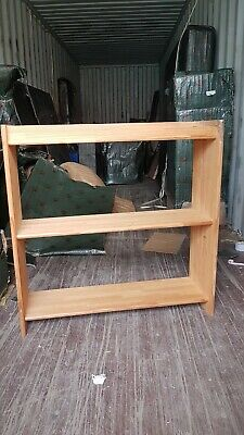 Solid African Pine Wood 3 Shelves Set Of Three Individual Units -  • 30£