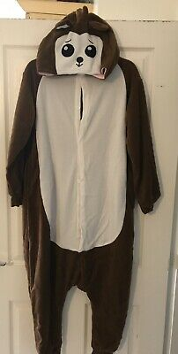 Brand New Brown Bear  All In One Pyjamas Size Small (10-12) Onsie • 12.99£