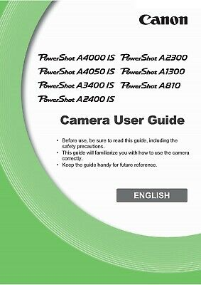 Canon Powershot A810 Hs Full User Manual Guide Instructions Printed 180 Pages A5 • 5.19£