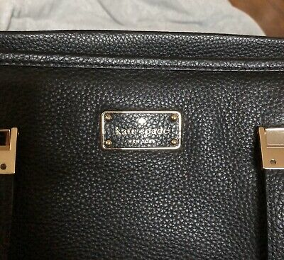 $ CDN100 • Buy KATE SPADE Black Leather Satchel Tote Bag