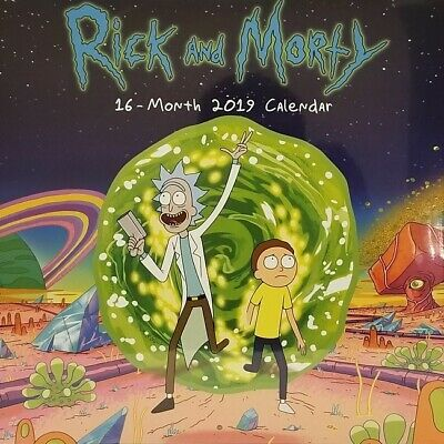 $8.76 • Buy RICK AND MORTY 2019 16 Month Calendar