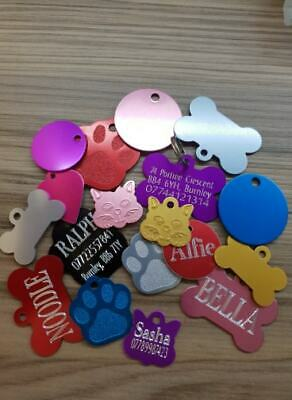Personalised Pet Id Tags Cat Dog Puppy Kitten Identity Tags Engraved  • 3.29£
