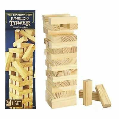 AU19.99 • Buy Wooden Jumbling Tower Traditional Family Fun Board Game Kids Strategy Toys Games
