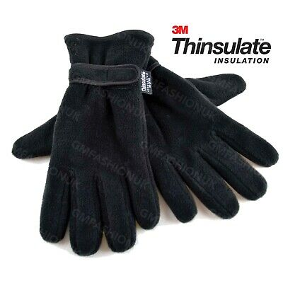£5.29 • Buy Mens Gloves Thinsulate Thermal Insulation Fleece Lined Adults Warm Winter Wear
