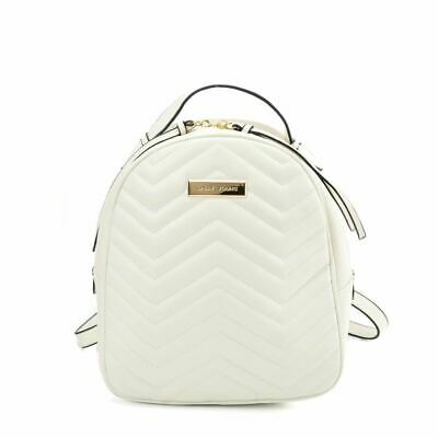 AU59.30 • Buy Ladies Backpack Quilted White Soft Faux Leather Small Smart Designer Sports Bag