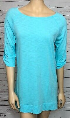 Lilly Pulitzer Womens Blue Pima Cotton Tunic T Shirt Top Size Medium • 24$