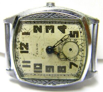 $ CDN52.54 • Buy Mens Elgin Manual Wind Art Deco Fancy Engraved Vintage Old Watch Parts Repair
