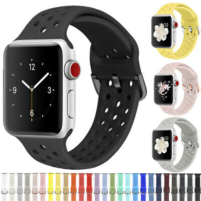 $ CDN4.57 • Buy Silicone Sports Wrist Band Strap For Apple IWatch Series 5/4/3/2/1 38/42/40/44mm