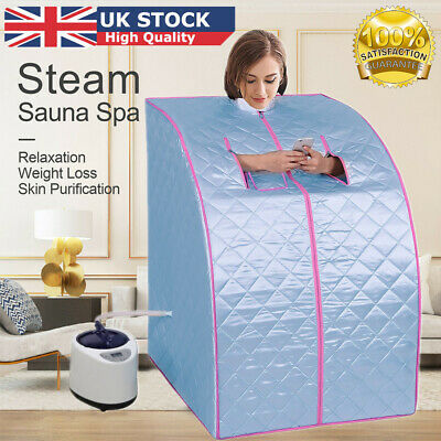 £66.98 • Buy 2L Steam Sauna Portable Spa Room Home Full Body Slimming Detox Therapy + Chair
