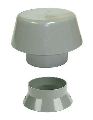 Grey Vent Kit 110mm Vent Cowl & Weather Collar Soil Pipe Stack Mushroom Vent • 14.95£