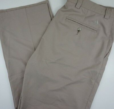 $ CDN28.88 • Buy ADIDAS Mens 36x31.5 Golf Pants Beige Poly Flat Front Pockets EUC