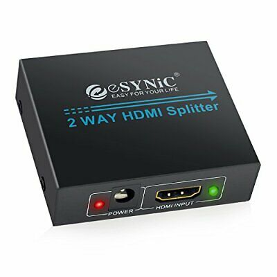 HDMI Splitter 2 Way Hdmi Splitter 1 In 2 Out 1080P Full HD For 3D HDTV SKY HD P • 15.46£