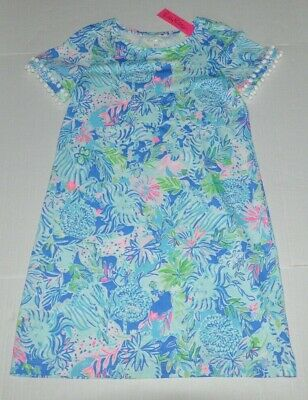 Lilly Pulitzer Lissie Dress In Coastal Blue Lion Around (Size M) NEW • 64.99$