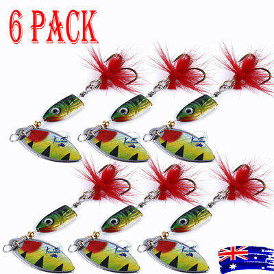 AU8.95 • Buy 6x Redfin Spinners 7g Spinner Spoon Bait Fishing Lure Trout Lures Baits Bass