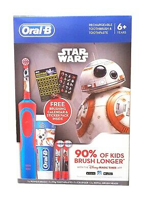AU59.99 • Buy Disney Oral-B Star Wars Vitality Rechargeable Kid Electric Toothbrush Toothpaste