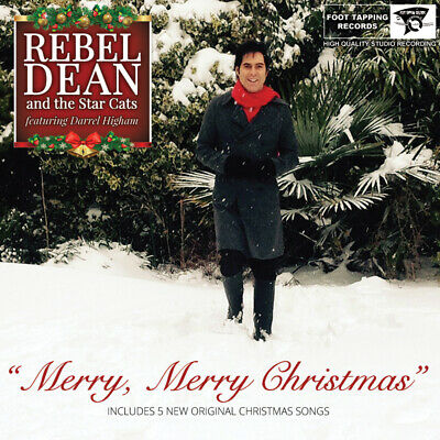 Christmas  C.d. -   Rebel Dean & The Star Cats  With  Darrel Higham  - Signed ! • 11.99£