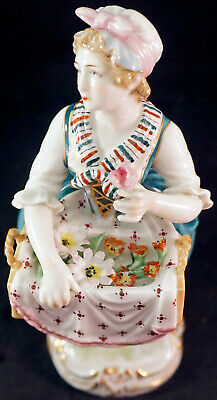 $ CDN150.80 • Buy Rare Niderviller Porcelain Lady Figurine Flower Girl Delicate & Hand Painted