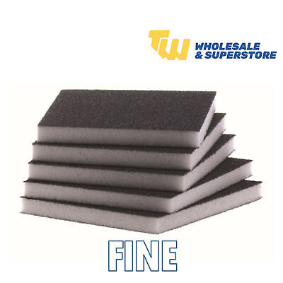 Fine Grit Flexible Wet & Dry Abrasive Sanding Foam Sponge Sand Pad Multi Packs • 2.50£
