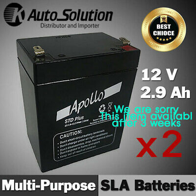 AU74.99 • Buy 12V 2.9AH Sealed Lead Acid Battery Back-up, Main Power Cyclic, Security X 2sets